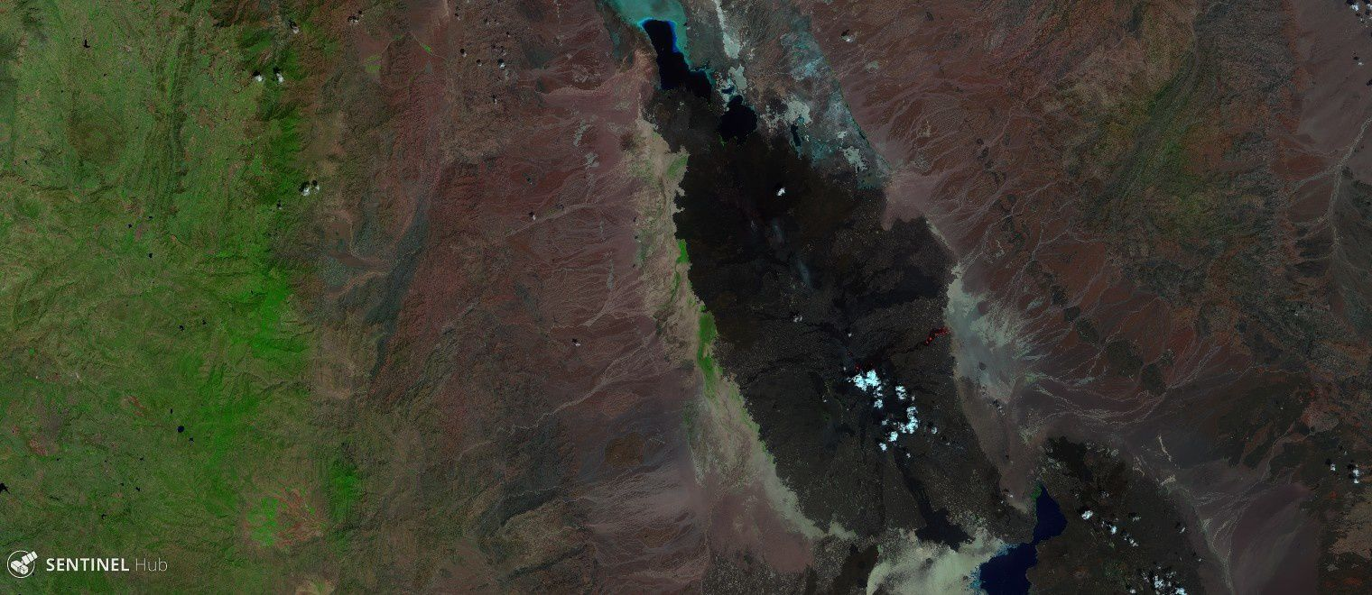 The Massif of Erta Ale seen by Sentinel 2 on 16.10.2017 - a click to enlarge