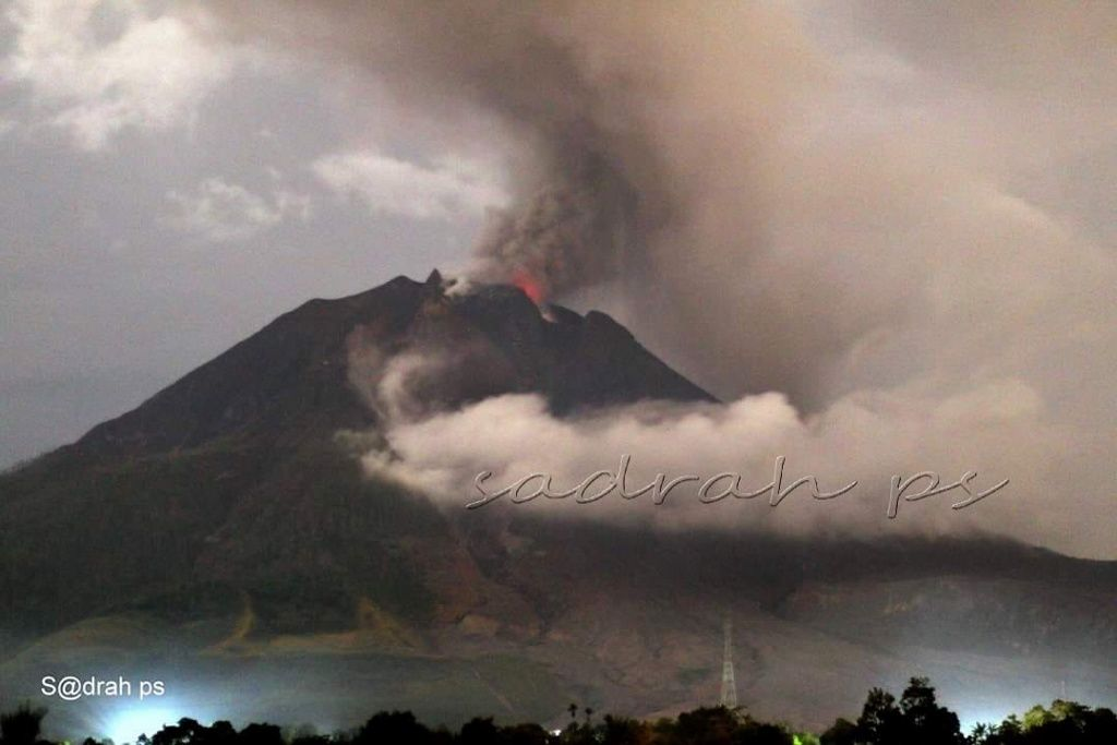 Sinabung - 11.05.2019 / 21h06 - photo Sadrah Peranginangin
