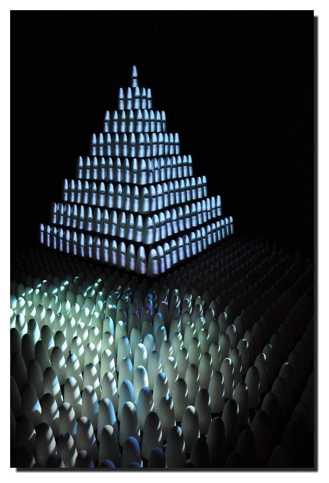 "Installation act numérique et mapping 3D Younès Atbane, Zouhair Atbane, Omar Sabrou : ""9 oualab"""