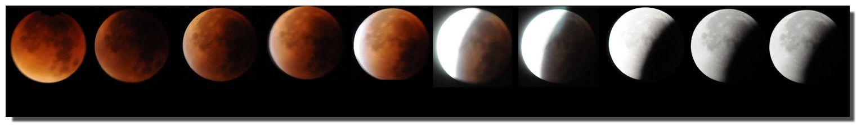 L'éclipse totale de Lune résumé en images