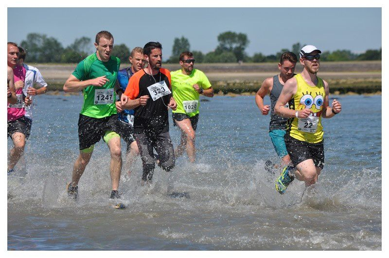 Saint Vaast la Hougue : Course du Run 2016 -Aller