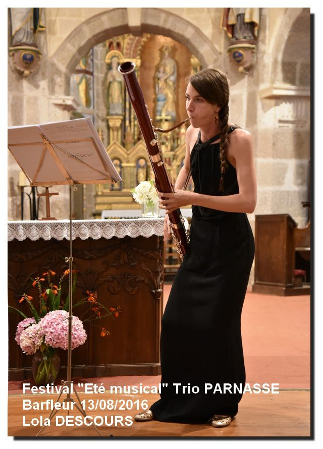 """Barfleur """"Eté musical"""", Trio Parnasse, 60ème concert"""