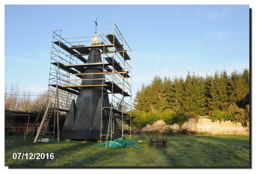 Une nouvelle flèche pour le clocher de l'église du Vast