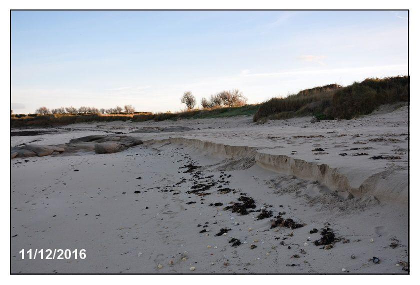 Vers une marée de vive eau, que devient le cordon dunaire ?