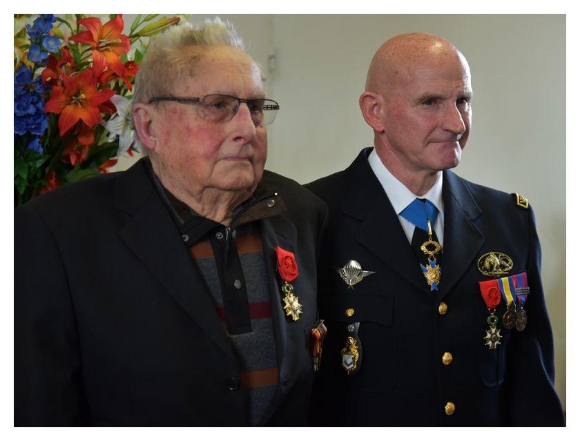 Paul Le Goupil et le général Bernard Mottier