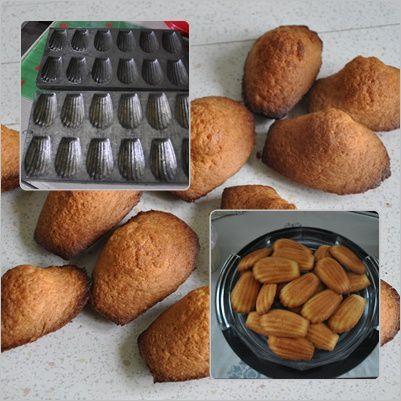 je les fais toujours dans mes vieux moules, je les aime autant que mes madeleines.