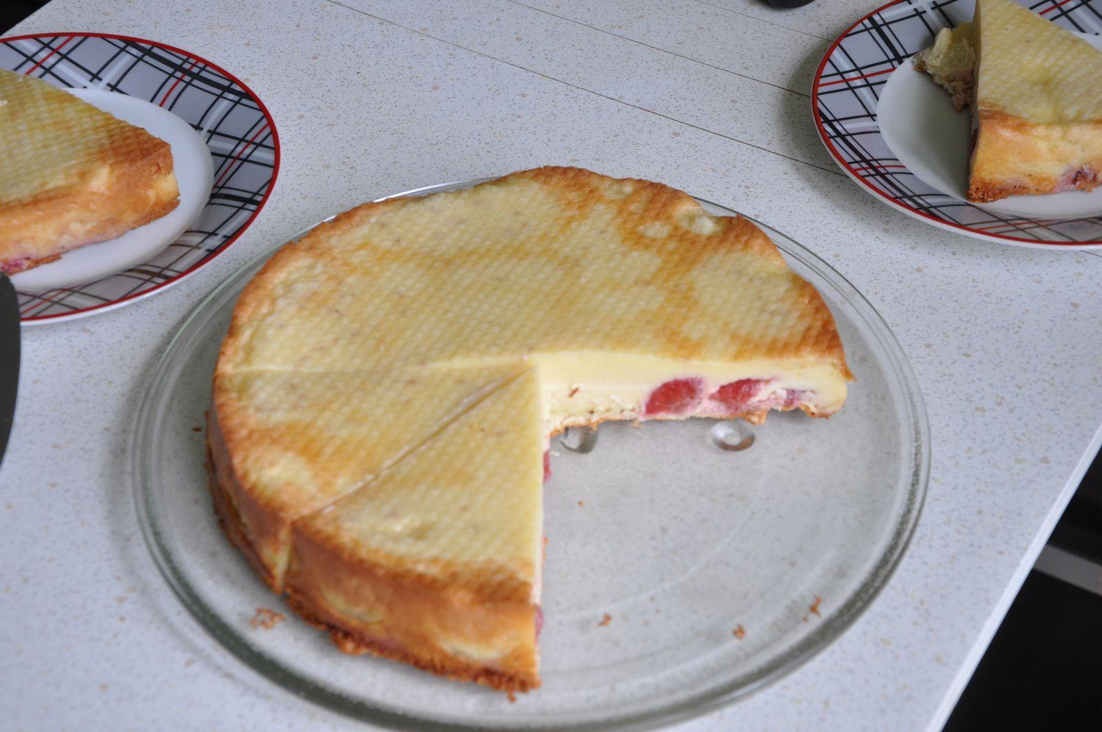 Gâteau magique aux fraises....