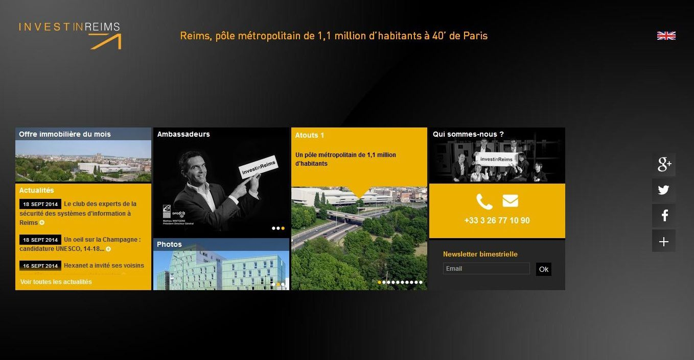 Homepage Site Invest in Reims 2014