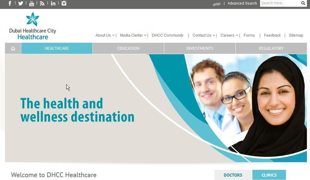 Source : http://www.dhcc.ae/Portal/en/healthcare.aspx