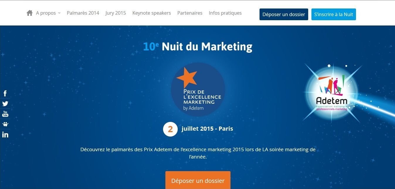 ADETEM : Nuit du marketing et Prix de l'excellence