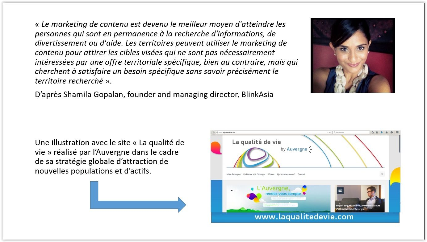 Le marketing territorial de contenu