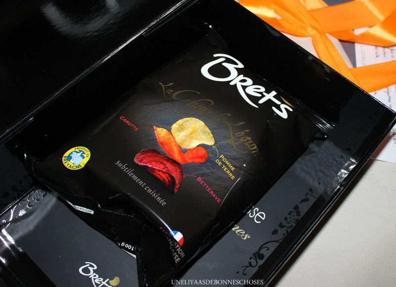J'ai aussi eu la chance de recevoir de délicieux chips de légumes...un vrai régal!!!!!!