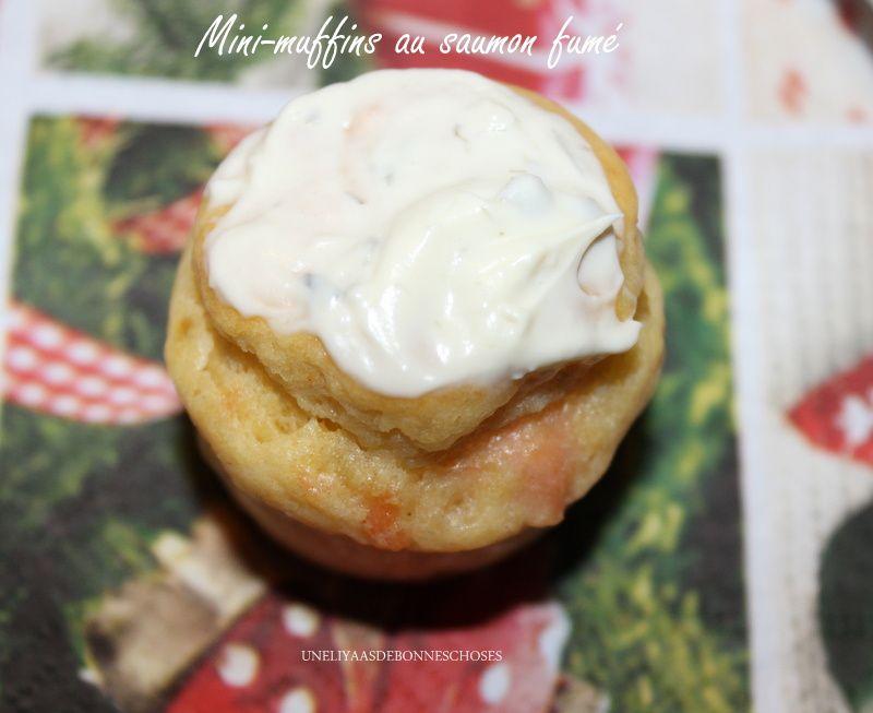 Mini-muffins au saumon fumé