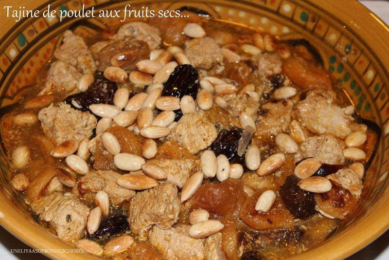 Tajine de poulet aux fruits secs(recette rapide!)