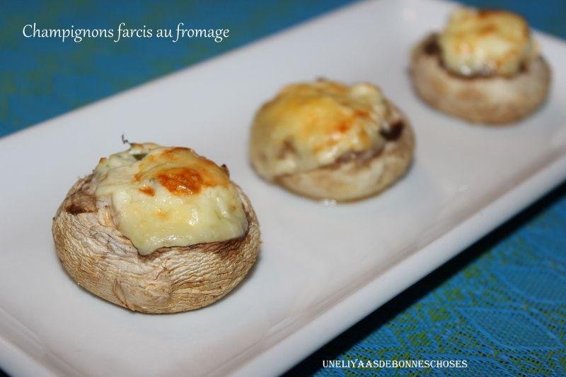 Champignons farcis au fromage...Semaine du Goût 2015