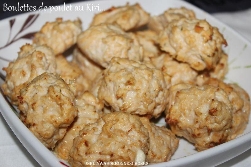 Boulettes de poulet au Kiri..