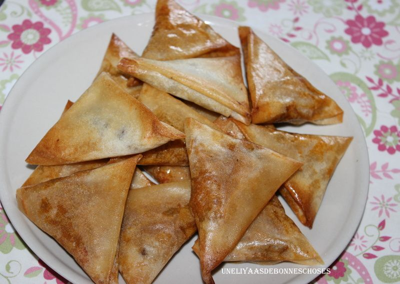 Samoussas aux épices,herbes et viande hachée...Escapade en cuisine