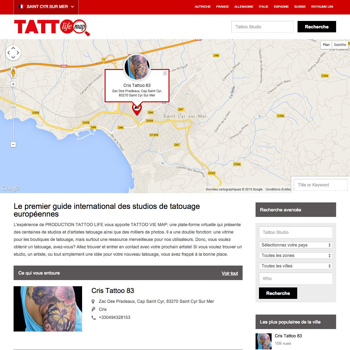 Cris Tattoo 83 Tattoo life Map