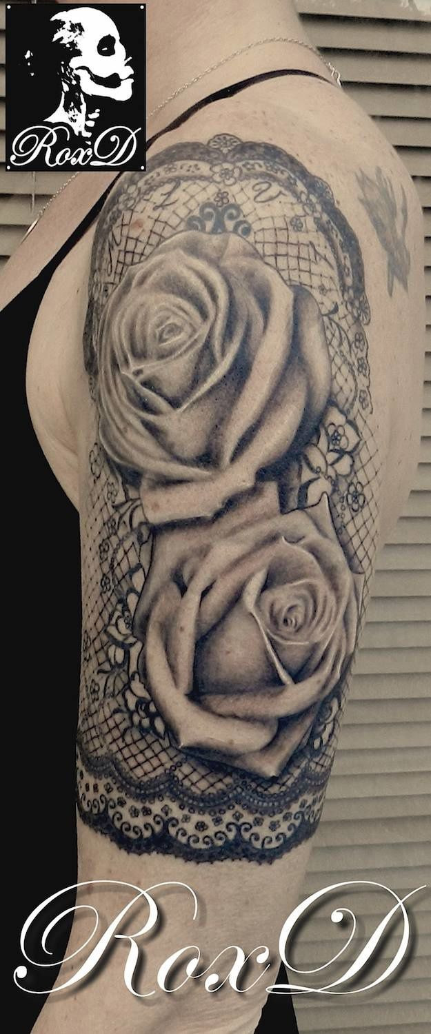 Roses Dentelle Tattoo by RoxD