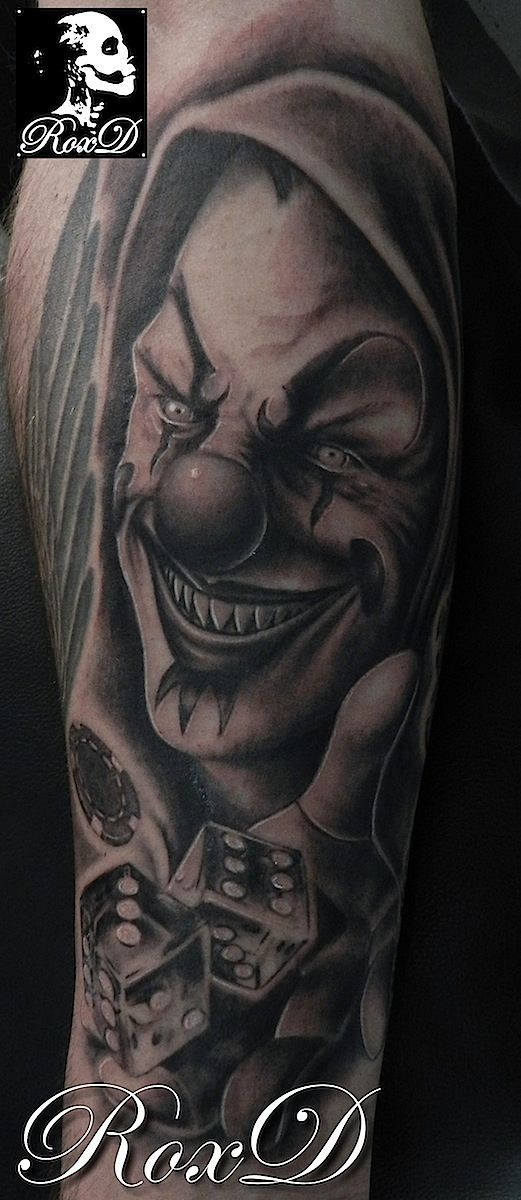 clown tattoo by RoxD