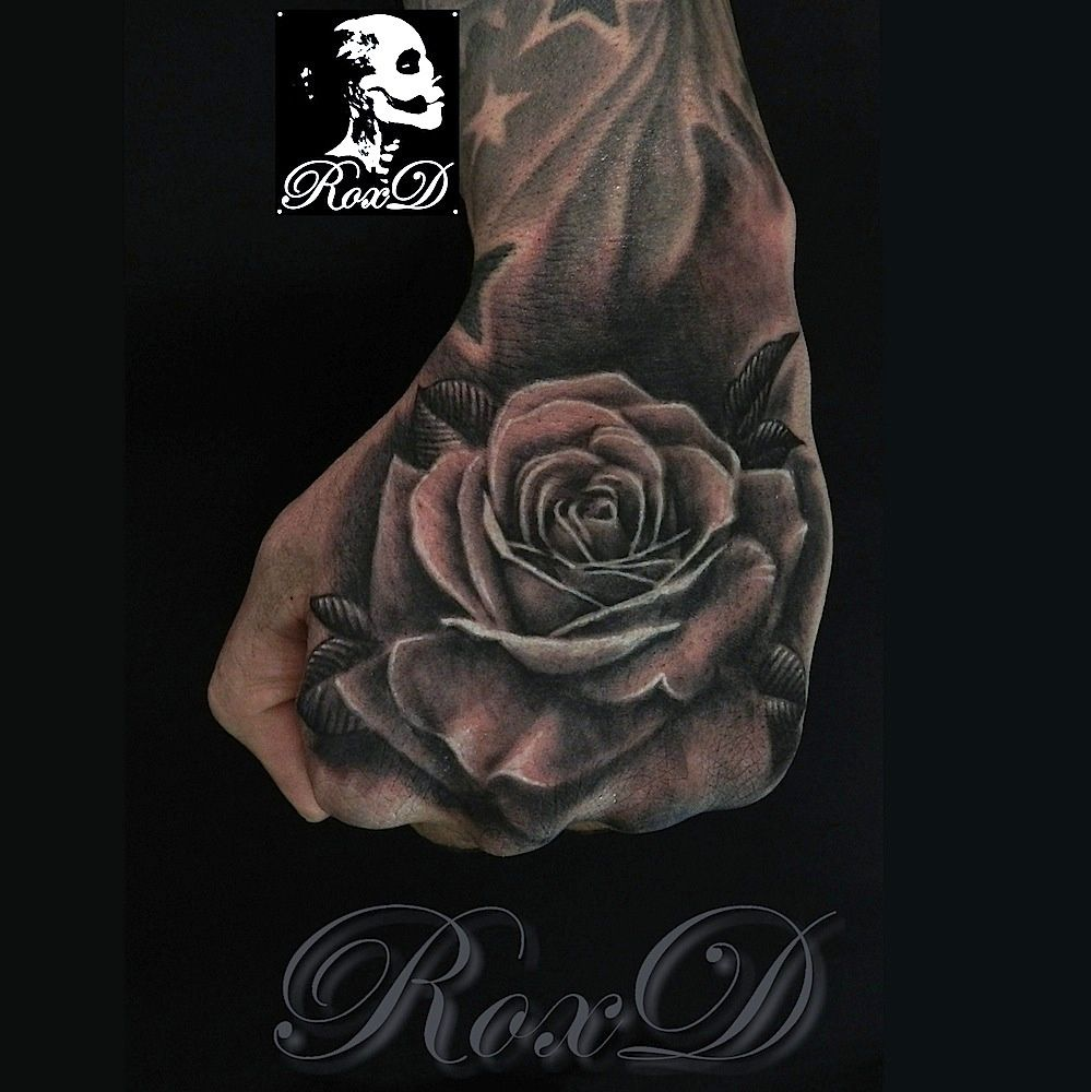 realistic rose tattoo by RoxD