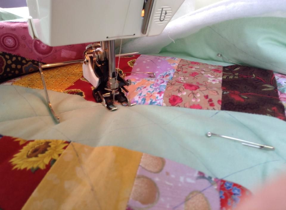 essai de quilting machine