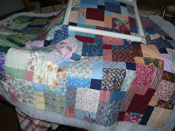 Encours de quilting : tapis de yoga