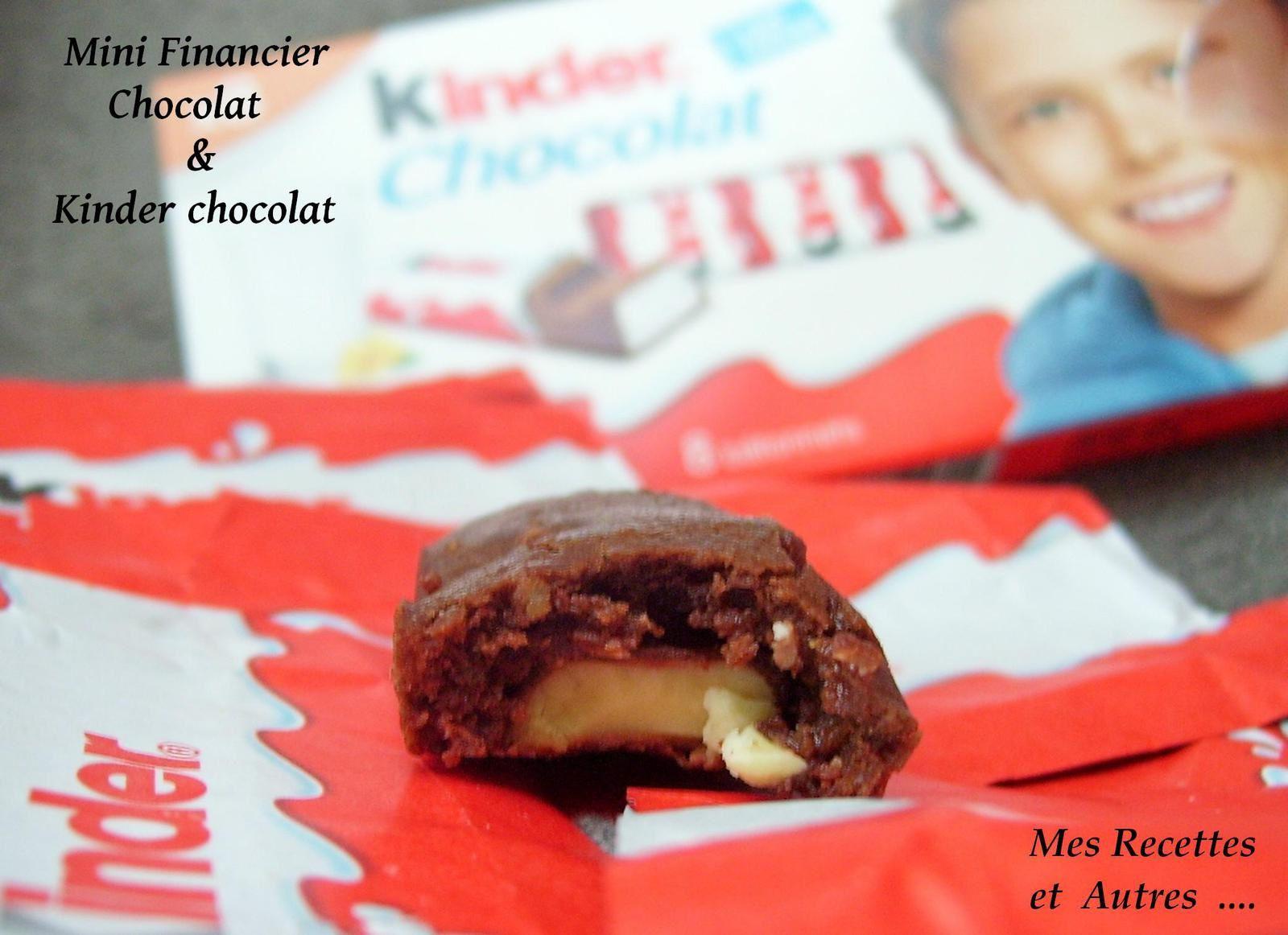 Mini Financier au Chocolat et Kinder Chocolat ®