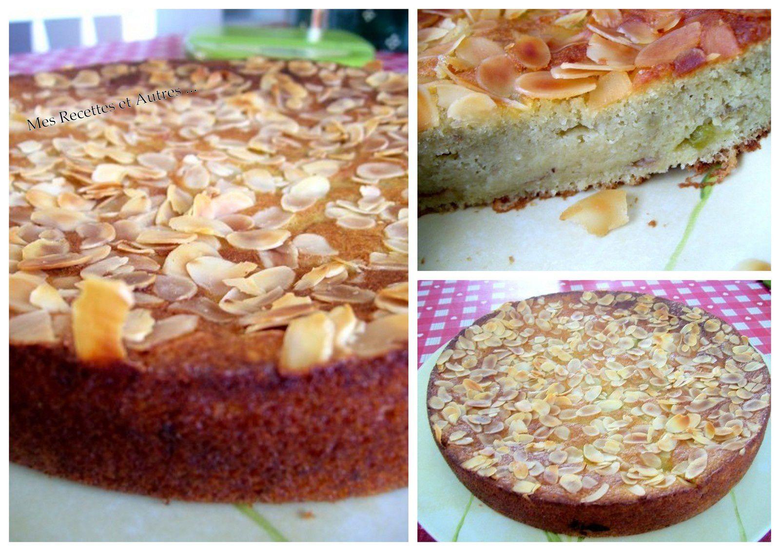 Gâteau Moelleux à la Compotée de Rhubarbe