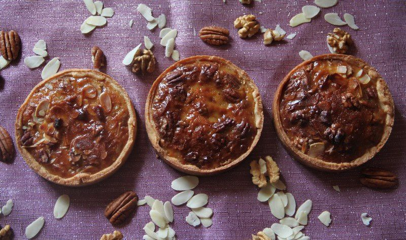 Tartelettes noix de pécan, amandes et noix