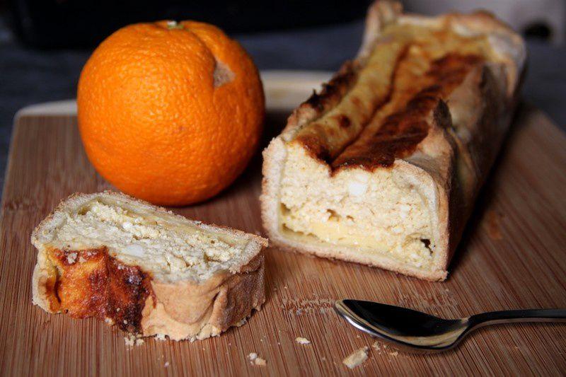 Tarte à la brousse et à l'orange