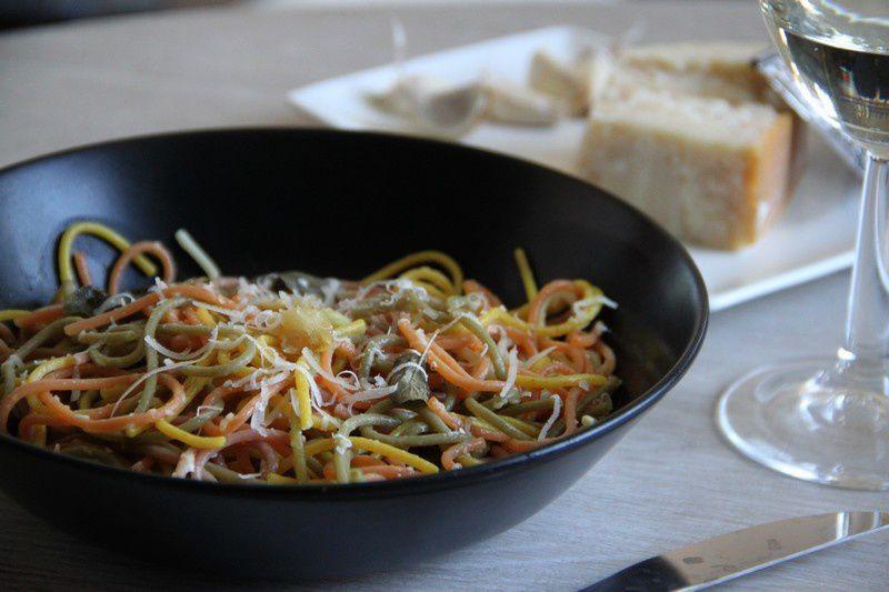 Spaghetti à l'ail et au parmesan
