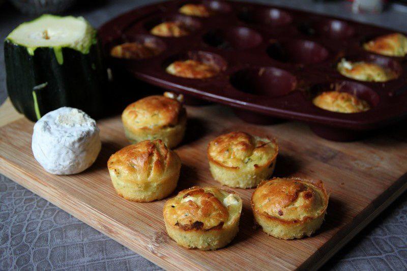 Muffins salés courgette chèvre