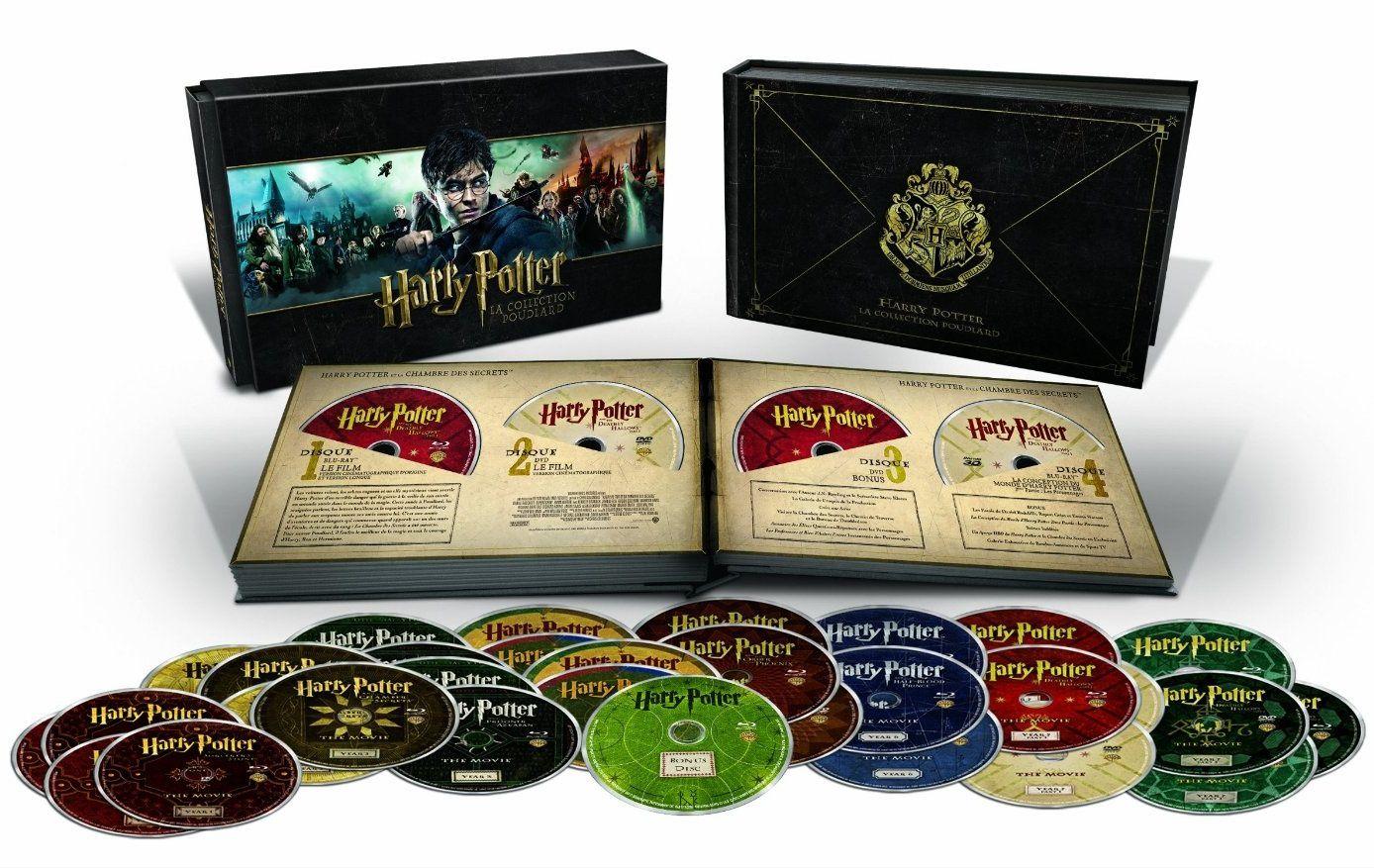 Harry Potter, la collection Poudlard 2014 en 31 dvd/blu-ray en France
