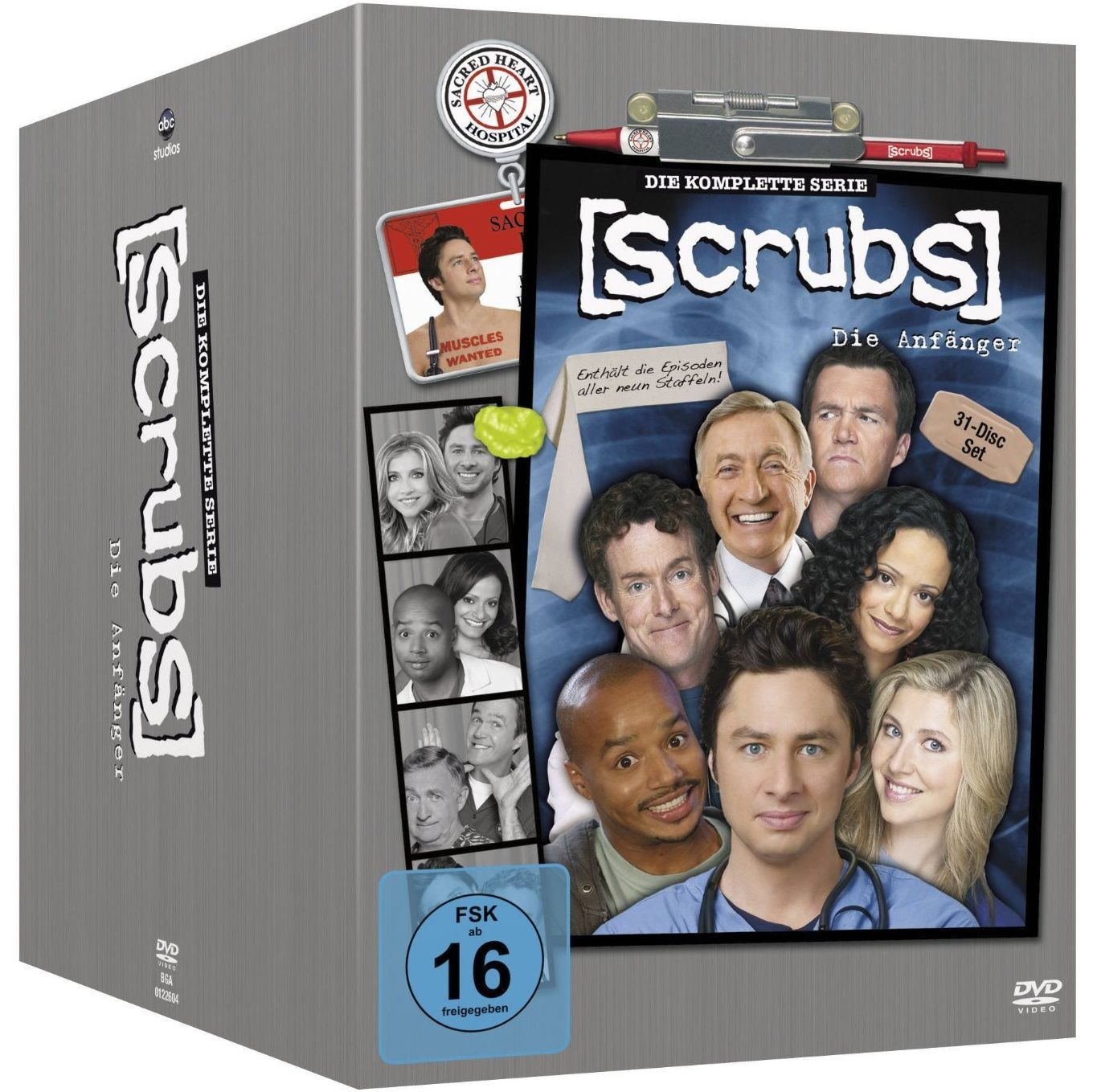 Scrubs, l'intégrale totale en dvd à 50€ only !
