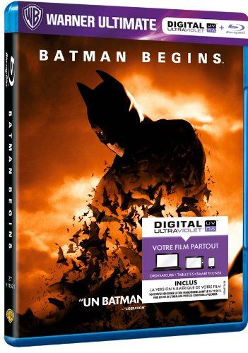 Batman begins en blu-ray/digital ultraviolet en France