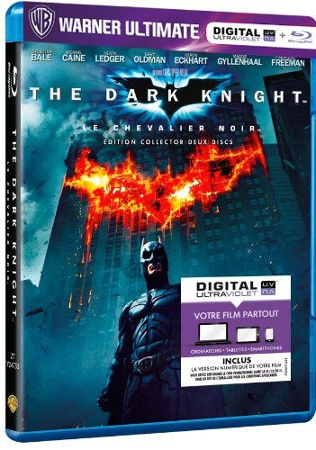 The dark knight en blu-ray/digital ultraviolet en France