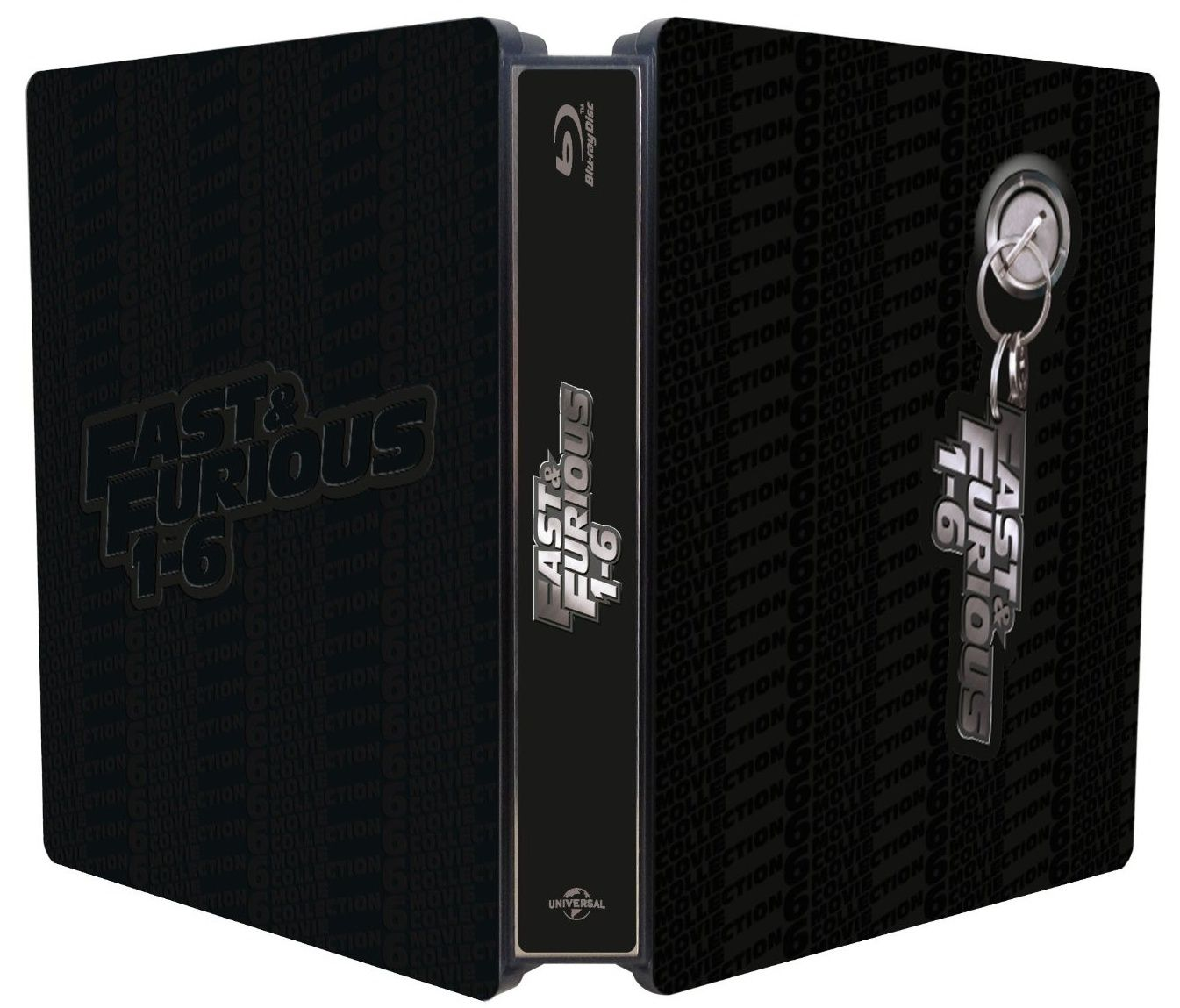 fast furious 1 6 en coffret blu ray m tal dition limit e. Black Bedroom Furniture Sets. Home Design Ideas