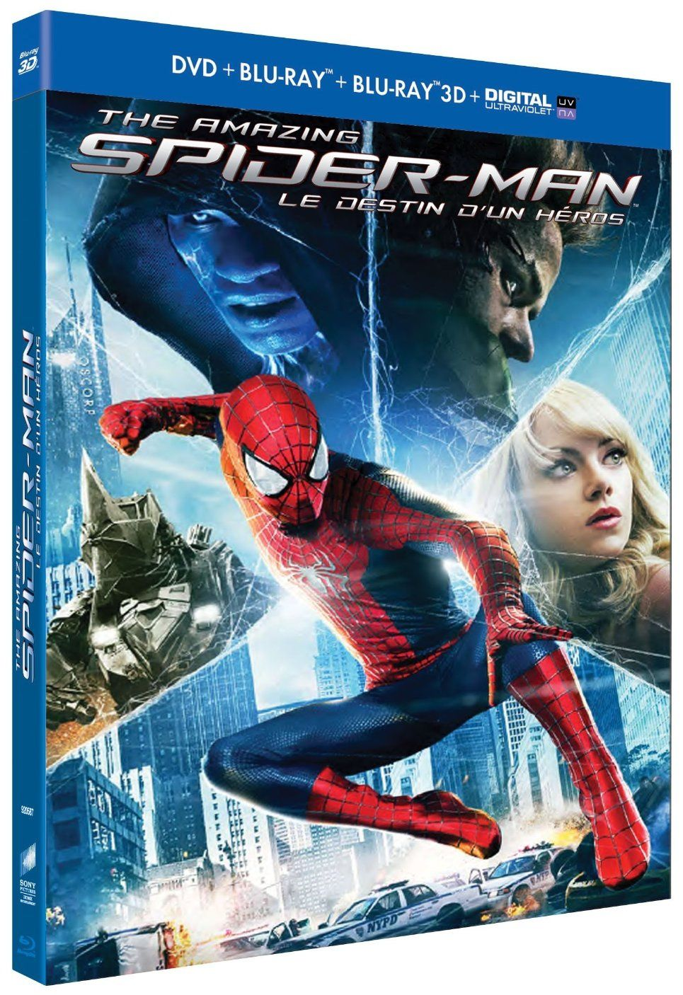 The amazing Spider-man 2, le destin d'un héros en dvd/blu-ray/digital ultraviolet