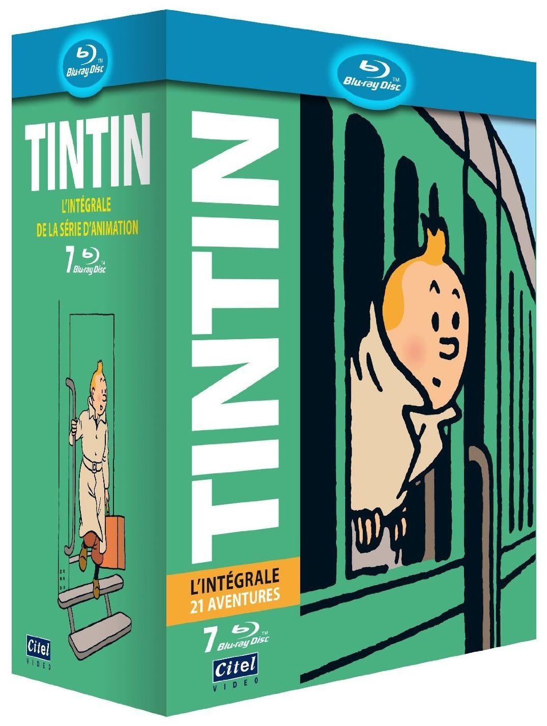 Tintin, l'intégrale des 21 aventures en coffret dvd édition limitée