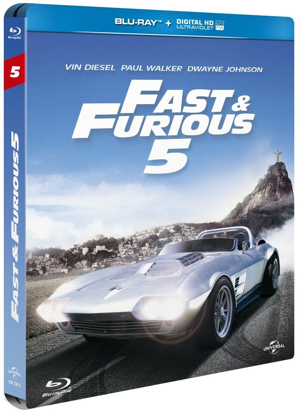 Fast&amp&#x3B;furious 5 en blu-ray/digital ultraviolet