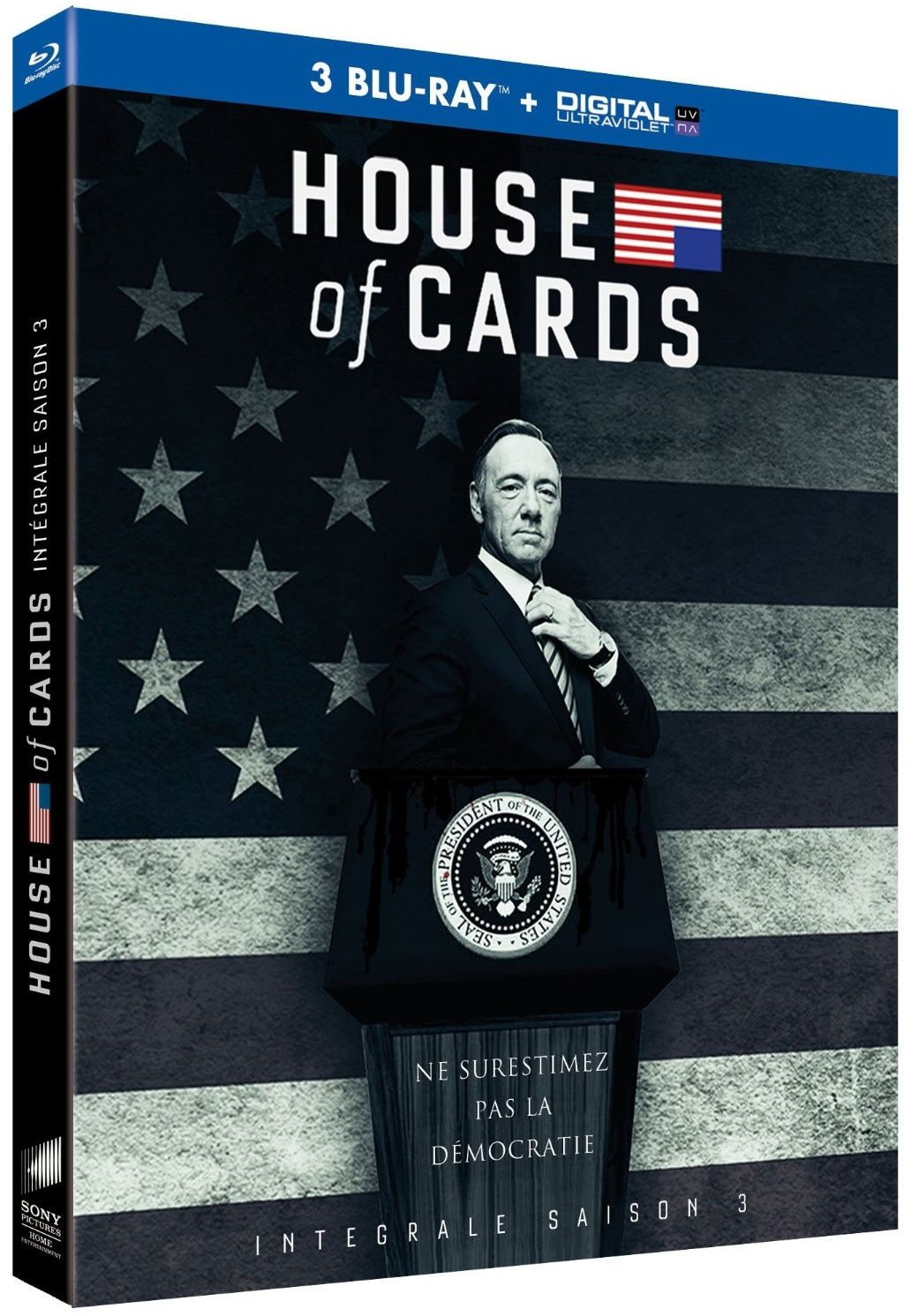 House of cards saison 3 en dvd/blu-ray/digital ultraviolet