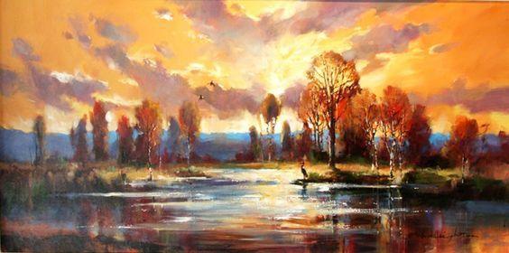 Peintures de Brent Heighton.