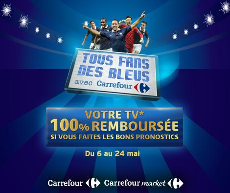Fans des Bleus ! Votre TV remboursée, cartes à collectionner chez Carrefour