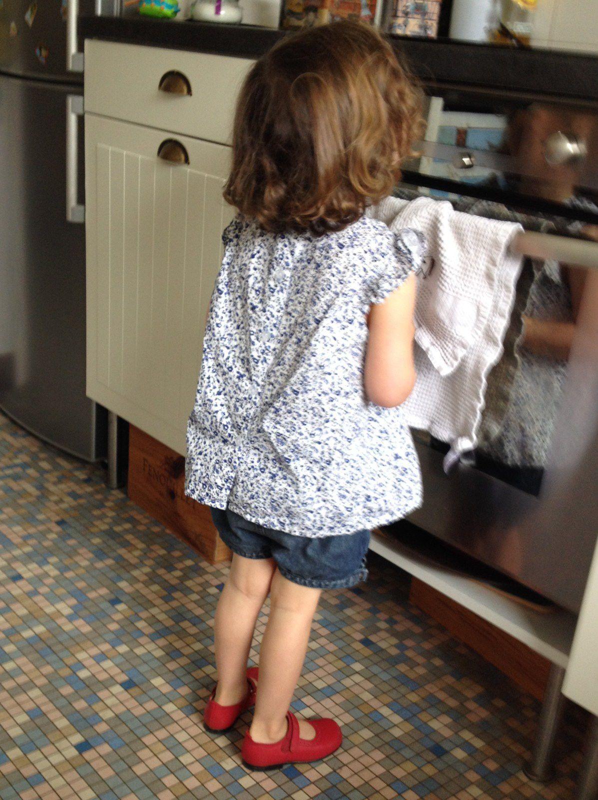 Robe col claudine à smocks pour fille et poupée Corolle Création IMAHO [samedi mode]