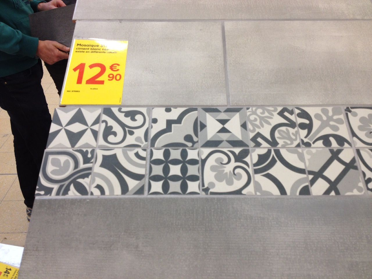 D co carrelage aspect carreaux ciment revisit s abk docks - Castorama carrelage mosaique ...