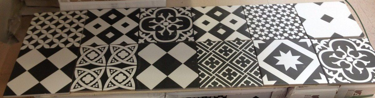 1000 images about decoracion cocinas on pinterest - Carreaux de ciment noir et blanc ...