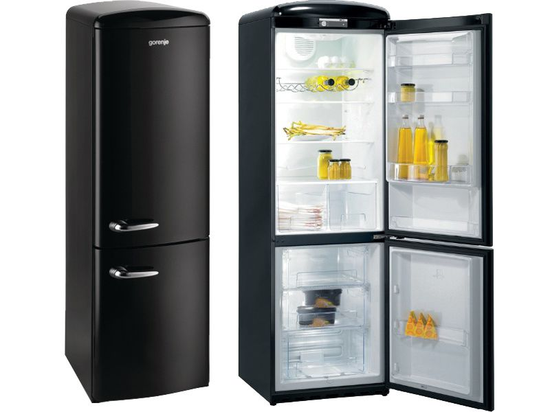 frigo retro pour ma cuisine fifties noire et blanche gorenje smeg bosh fashion maman. Black Bedroom Furniture Sets. Home Design Ideas
