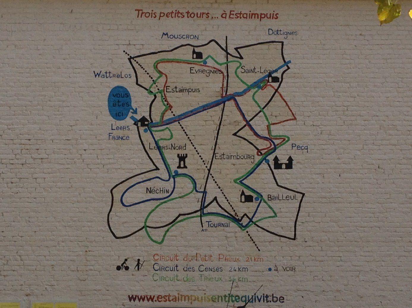 Promenades dans les environs de Lille : Wambrechies, Leers Belgique...