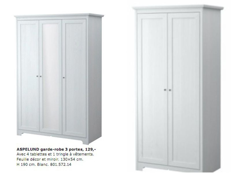 armoire 3 portes ikea aspelund my blog. Black Bedroom Furniture Sets. Home Design Ideas